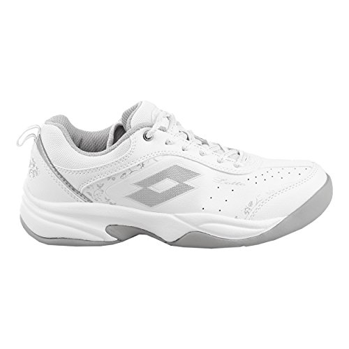 Lotto Damen Tennisschuhe Court Logo VIII Indoor Weiss (100) 41EU
