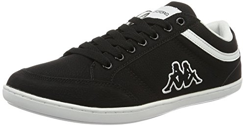Kappa Herren Kent Low-Top, Schwarz (1110 White/Black), 41 EU