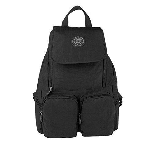 OBC Ital-design Unisex Erw. & Kinder Rucksack Handgepäck Schultertasche Kinderrucksack Rucksack Freizeit Shopper Tasche BackPack Tablet/Netbook bis ca. 10-13 Zoll (Schwarz (28x39x12 cm))
