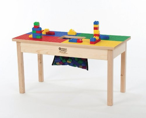 """Duplo® Kompatibel Heavy Duty Holz table-32""""x16"""" verrottunghergestellt in usa-preassembled-solid Hartholz Beine und frame-built zu letzten."""
