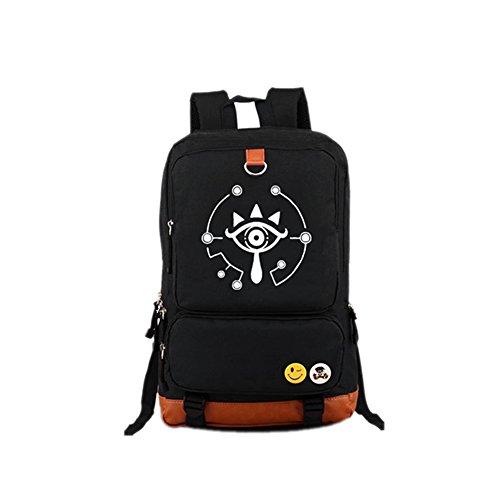 Schwarz Backpack Oxfurd Tuch Groß Kapazität Rucksack Erwachsene Schultasche Seesack für Cosplay Kostüm (Zelda Of Zubehör Legend)