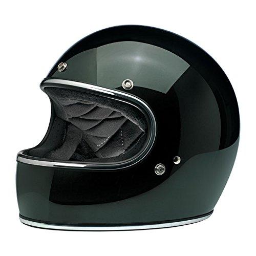 Casco Gringo Biltwell Sierra Green Verde oscuro integral Helmet Vintage Retro Años 70Custom Chopper Bobber Talla L verde oscuro