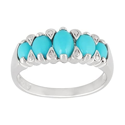 925 Sterling Silver Turquoise Five Stone