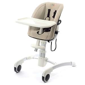 BABY VIVO Design aluminium chaise haute creme certifie par SGS institut