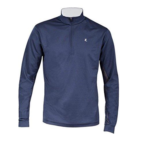 horze Herren Funktions-Poloshirt Supreme Dorian Long Sleeve, Damen, Peacoat Dark Blue/White, Large