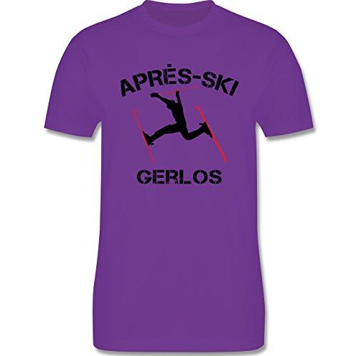 Après Ski - Apres Ski Gerlos - Herren Premium T-Shirt Lila
