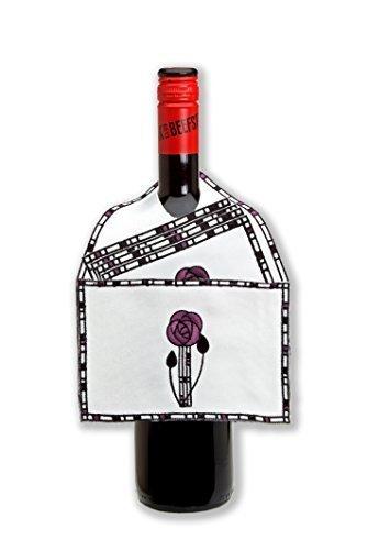 Justina Claire Rennie Mackintosh Rose MALVENFARBEN Weinflasche Latz und Coaster Set