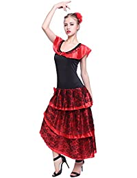 Faschingskleid spanische Taenzerin Spanisch Kleid Tango Flamenco Kostuem Kleid Carmen Samba Seniora?