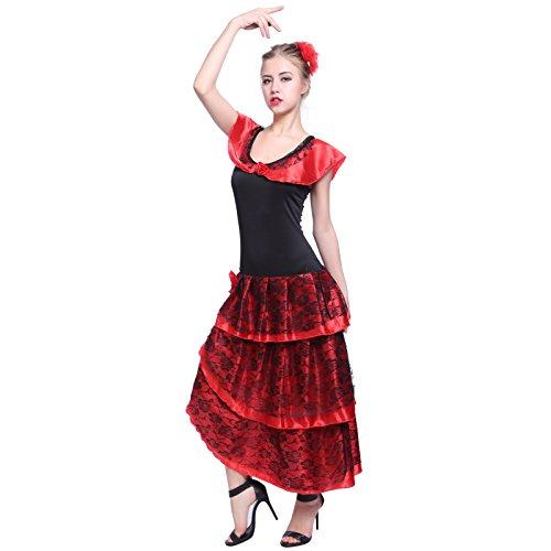 Faschingskleid Gr.S spanische Taenzerin Spanisch Kleid Tango Flamenco Kostuem Kleid Carmen Samba Seniora? (Spanische Kostüme)