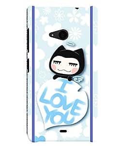 Fuson 3D Printed Love Designer back case cover for Nokia Lumia 535 - D4445