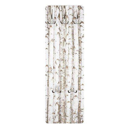 Apalis 73463 Wandgarderobe Nummer YK15 Birkenwand | Design Garderobe Garderobenpaneel Kleiderhaken Flurgarderobe Hakenleiste Holz Standgarderobe Hängegarderobe | 139x46cm