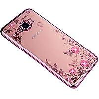 Homikon Silikon Hülle Rosa Blume TPU Tasche Bling Glänzend Glitzer Diamant Handyhülle für Mädchen Transparente... preisvergleich bei billige-tabletten.eu