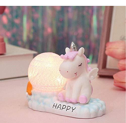 Harz led nachtlicht einhorn baumwolle ball lampe nacht nacht lampe schlafzimmer dekor bebe glow nacht lampe kinder