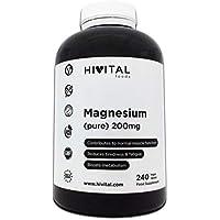 Magnesio puro 200 mg procedente de Citrato de Magnesio | 240 comprimidos (Suministro para 8 meses) | Mejora los.