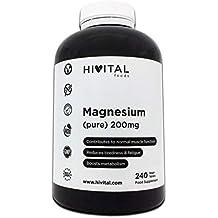 Magnesio puro 200 mg procedente de Citrato de Magnesio | 240 comprimidos (Suministro para 8