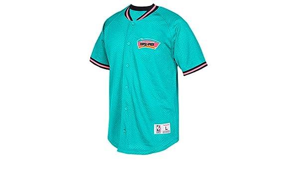 bdd82db0e ... release date san antonio spurs mitchell ness nba seasoned pro mens  button up jersey shirt amazon