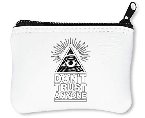 Eye of Providence Illuminati Conspiracy Series Dangerous Group Reißverschluss-Geldbörse Brieftasche Geldbörse