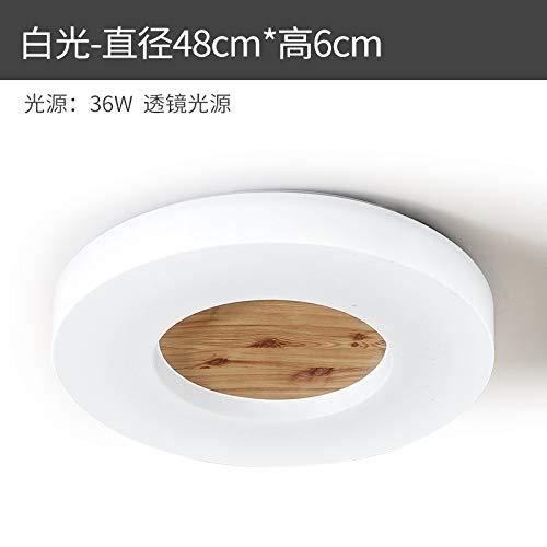 Habitación baño salón dormitorio madera maciza lámparas ronda 48cm luz blanca
