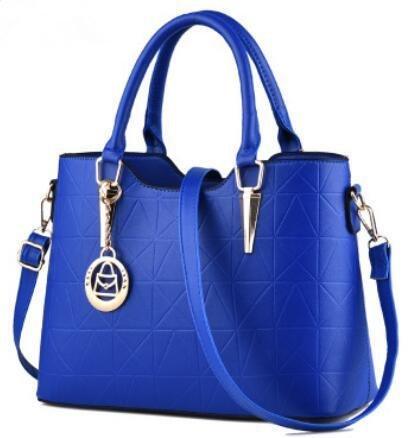 HQYSS Borse donna Dolce signora atmosferica moda PU cuoio donna spalla borsa Messenger , light gray days blue