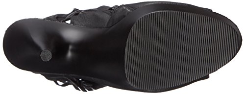 Pleaser Delight-1019, Stivaletti Donna Nero (Blk Faux Leather/Blk Matte)