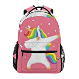 Sac d'école Backpacks Unicorn Doing Dabbing Lightweight Bookbags Student Bag Big for Girls Kids Elementary Sac d'école Shoulder Bag