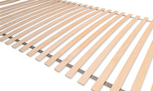 Matratzenheld Remus Rollrost 80x200 cm | Lattenrost mit 28 Federholzleisten | Breite 35 mm | Geeignet Für Alle Matratzentypen | Rollbar