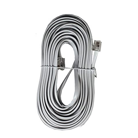 10m White ADSL Cable - High Quality (100% Copper wire) - Gold Plated Contact Pins - High Speed Internet Broadband - Router or Modem to RJ11 Phone Socket or Microfilter - White