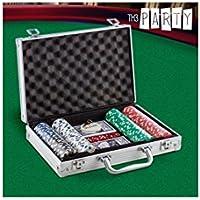 Th3 Party - Jeu de Poker avec Mallette Luxe Th3 Party (200 jetons)