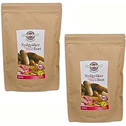 Naturmind Pfeilwurzelmehl 2erPack (2x500g) Glutenfrei, getrocknet, gemahlen + Bonus Carob Pulver 250g
