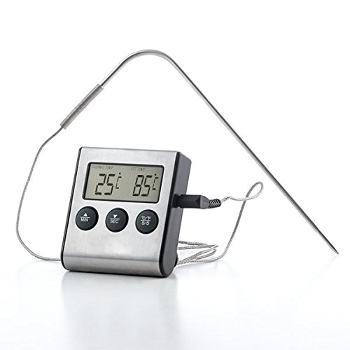 BBQ Classics Digitales Bratenthermometer - aus Edelstahl - bis 250°C