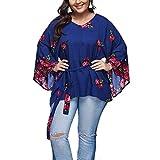 Damen Tshirt Große Größen Elegant Langarm Blumen Casual V Ausschnitt Tunika Bluse Sweatshirt Hoodie Top Oberteile Oversize