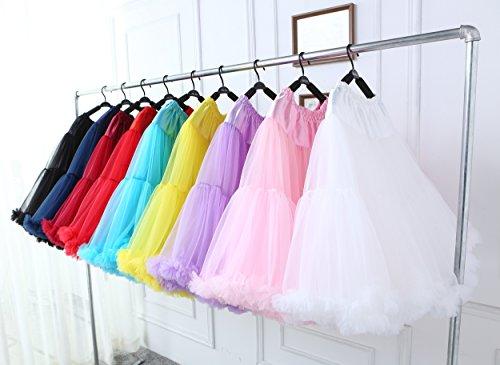 FOLOBE adulti lussuosa Tutu Petticoat Costume Balletto di ballo multi-strato morbido chiffon sottogonna in tulle tutu delle donne Gonna Gonna Puffy Grigio