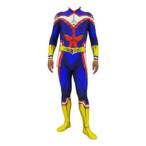 werty Allmight Kleidung Anime Kostüme My Hero College Cosplay Kostüm Kompletter Satz Von Kleidung Strumpfhosen Erwachsenen Halloween Cosplay Adult-XXL