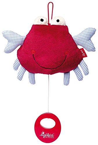 sigikid, Mädchen und Jungen, Spieluhr Krabbe, Toy Ahoi, Rot/Blau, 40979