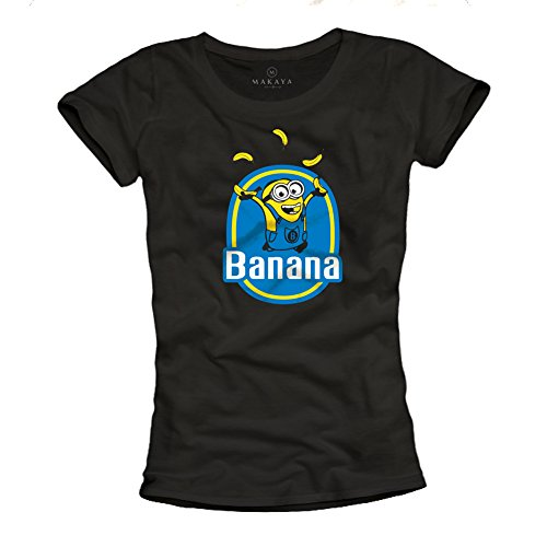 Minions T-Shirt – Banana – schwarz Größe M