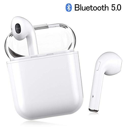 Auriculares Bluetooth, Auriculares Inalámbricos Auriculares Bluetooth 5.0 In Ear Auriculares Auriculares Estéreo In-Ear Micrófono Manos Libres Incorporado para Apple Airpods Android/iPhone