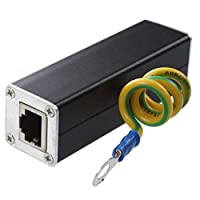 Ethernet Lightning Surge Protecting Ethernet Lightning Surge Protecting PoE+ Gigabit 1000Mbs CAT5 CAT6 RJ45 To RJ45 Adapter Network Protecting Device
