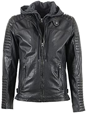 Freaky Nation Herren Jacke Echtleder Motorhood 2