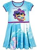 Disney - Chemise de Nuit - Aladdin - Fille - Bleu - 4-5 Ans