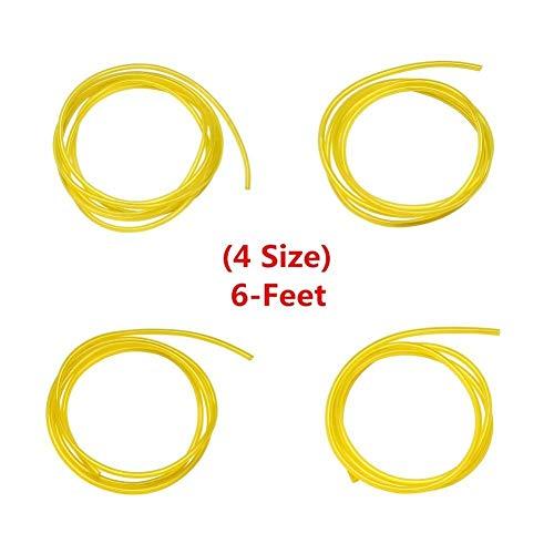 Set di 4 tubi per carburante, diametro interno x diametro esterno 2,5 x 5 mm, 3 x 5 mm, 2 mm x 3,5 mm, 3 mm x 6 mm, tubo per benzina, tubo per olio diesel, tubo in PVC, tubo per acqua (2 m)