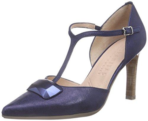 HispanitasSt-Tropez - Scarpe con Tacco Donna Blu (Blau (MAGIC-V6 JEANS))