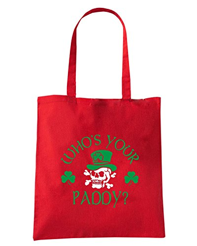 T-Shirtshock - Borsa Shopping TIR0222 whos your paddy skull ringer t Rosso