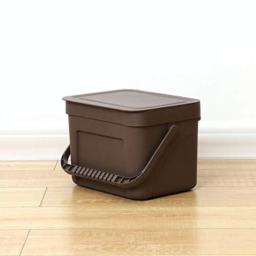 er, Küche und Bad Mülleimer, Wand-Mülleimer, Aufbewahrungsbox mit doppeltem Verwendungszweck Dunkelbraun-S ()