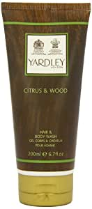 Yardley London Citrus and Wood Hair and Body Wash 200ml