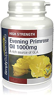 SimplySupplements Super Strength Evening Primrose Oil 1000mg|180 Capsules from Simply Supplements