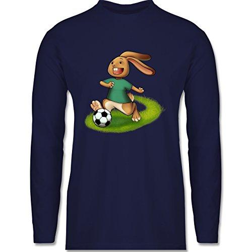 Shirtracer Fußball - Fußball Hase - Herren Langarmshirt Navy Blau