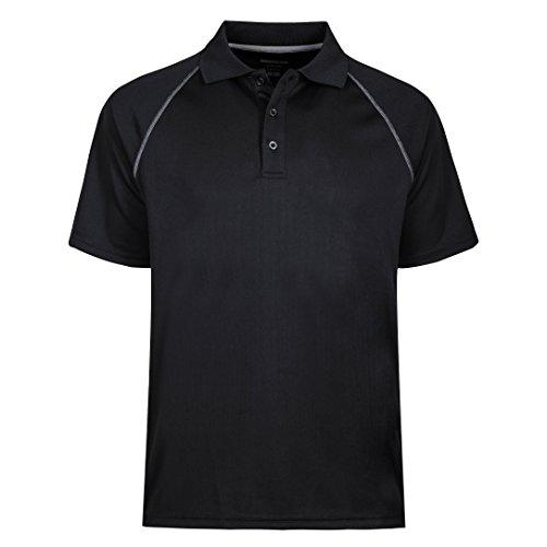 Button Down Cotton Polo Shirt (Herren Poloshirt Sailing Crew Gr:-XXL Farbe:-Schwarz)