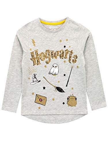 HARRY POTTER Mädchen Hogwarts Langarm Shirt Grau 146