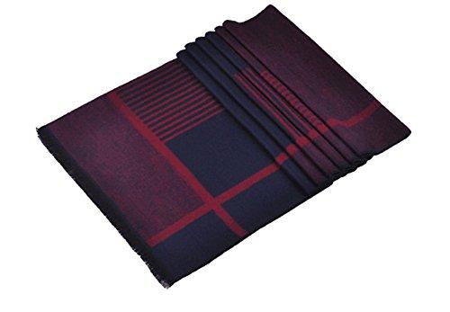 Affaires écharpe automne et d'hiver couleurs mélangées Écharpes d'hommes foulards en coton plus épais red