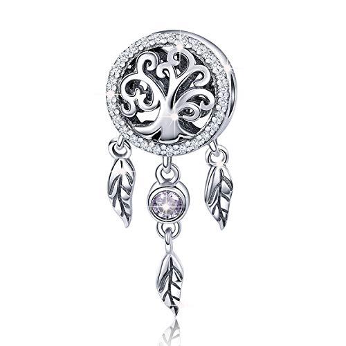 Atrapasueños Charms de plata de ley 925 diseño de familia de árboles...